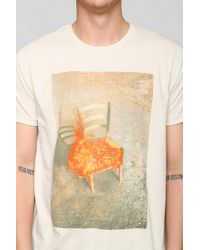 Urban Outfitters - White Altru Nico Krijno Burning Chair Tee for Men - Lyst