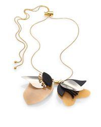 Marni - Metallic Horn Petal Lariat Necklace - Lyst