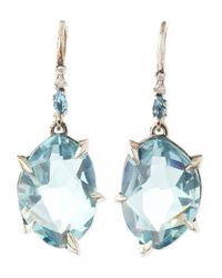 Alexis Bittar Fine | Blue Midnight Marquise Topaz & Pave Diamond Earrings | Lyst