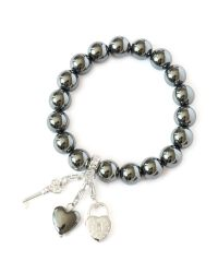Charmology | Gray Key To Friendship Hematite Bracelet | Lyst