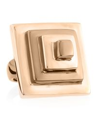 Eddie Borgo | Pink Block Pyramid Ring Rose Golden Size 7 7 | Lyst