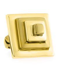 Eddie Borgo - Block Pyramid Ring, Yellow Golden - Lyst