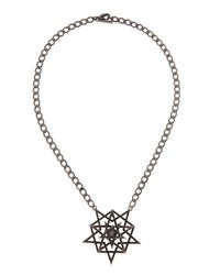 Eddie Borgo | Black Pave Pentagram Necklace | Lyst