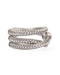 Roberto Coin | Primavera 18k White Gold Ghsi Diamond Triplerow Ring | Lyst