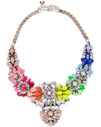 Shourouk | Multicolor Apolonia Rainbow Necklace | Lyst
