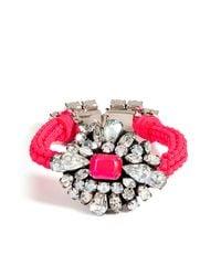 Shourouk | Neon Pink Crystal Baraka Wanda Bracelet | Lyst
