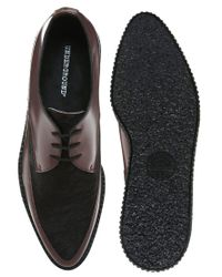 ASOS - Red Underground Pony Hair Creepers for Men - Lyst
