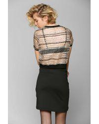 Urban Outfitters | Black Nameless Asymmetrical Mini Skirt | Lyst