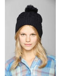 Urban Outfitters - Blue Cable Knit Cuffed Beanie - Lyst