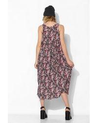 Urban Outfitters - Black Urban Renewal Babydoll Maxi Dress - Lyst