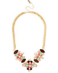 BaubleBar - Pink Floral Capri Necklace - Lyst