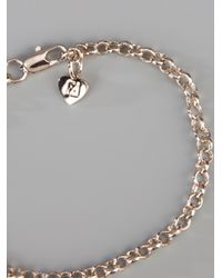 Fendi - Metallic Charm Bracelet - Lyst