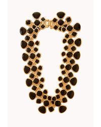 Forever 21 | Black Lacquered Link Necklace | Lyst