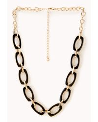 Forever 21 - Black Luxe Chain-link Necklace - Lyst