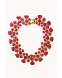 Forever 21 - Pink Lacquered Link Necklace - Lyst