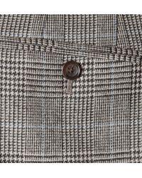 J.Crew - Gray Slimfit Glen Plaid Woolblend Suit Trousers for Men - Lyst