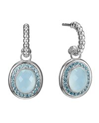John Hardy | Bedeg Blue Topaz Hoopdrop Earrings | Lyst