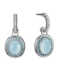 John Hardy - Bedeg Blue Topaz Hoopdrop Earrings - Lyst