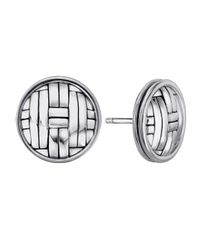 John Hardy - Metallic Bedeg Woven-carved Round Post Earrings - Lyst