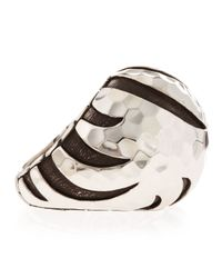 John Hardy - Metallic Palu Macan Striped Dome Ring Size 6 - Lyst