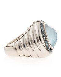 John Hardy - Round Blue Topaz Ring - Lyst