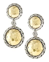 John Hardy | Metallic Small Double Round Drop Earrings | Lyst