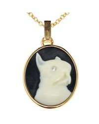 Marc By Marc Jacobs | Black Olive Cameo Necklace | Lyst