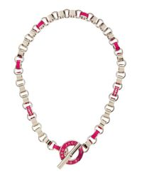 Marc By Marc Jacobs | Enamel Toggle Necklace Pink | Lyst