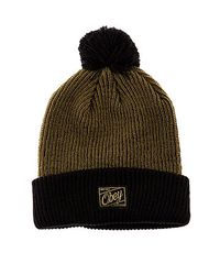 015a39e108e Lyst - Obey The Old Timey Pom Pom Beanie in Green for Men