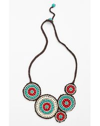 Panacea | Blue Howlite Bib Necklace | Lyst