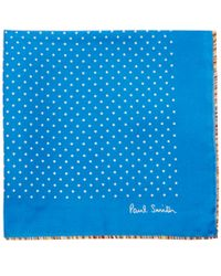 Paul Smith - Blue Polka Dot Silk Handkerchief for Men - Lyst