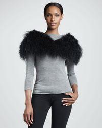 Pologeorgis | Black Fox Fur Cowl Collar/infinity Scarf | Lyst