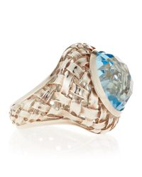 Slane - Blue Topaz Basket-weave Ring - Lyst