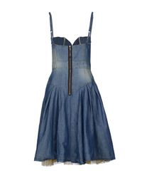 DSquared² - Blue Kneelength Dress - Lyst