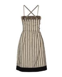 Fendi - Gray Short Dress - Lyst