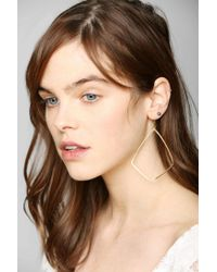 Urban Outfitters - Metallic Jessica Decarlo Shield Earring - Lyst