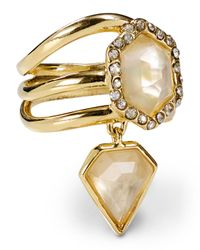 Alexis Bittar - Metallic Triple Band Citrine Ring - Lyst