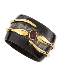 Ashley Pittman | Black Ruby Pacha Bangle | Lyst