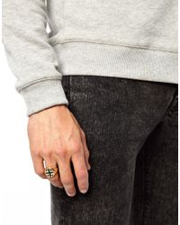 ASOS   Metallic Signet Ring with Union Jack for Men   Lyst