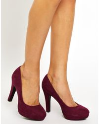 ASOS - Purple New Look Wide Fit Utensil Heeled Court Shoes - Lyst