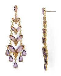 Carolee - Purple Girls Night Out Navette Chandelier Earrings - Lyst