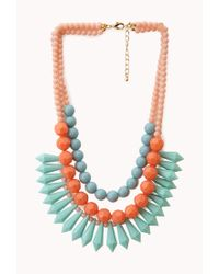 Forever 21 - Pink Layered Colorblock Necklace - Lyst