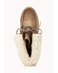 Forever 21 | Natural Cozy Chukka Boots | Lyst