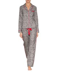 Lyst - Juicy Couture Cotton Flannel Pajama Top in White f2f0d5581
