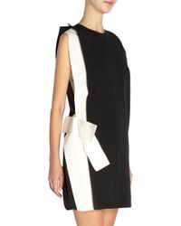 Lanvin White Open Shoulder Side Bow Dress