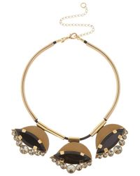 Marni | Black Gold-Tone, Horn And Leather Necklace | Lyst