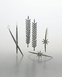 Mizuki - Metallic Shadow Silver Diamond Icicle Earrings - Lyst
