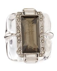 Alexis Bittar | Brown Large Lucite Pyrite Ring | Lyst