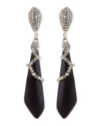 Alexis Bittar - Medium Pave Crystal Lucite Earrings Black - Lyst