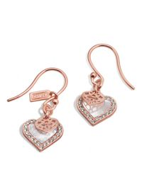 COACH | Metallic Mother Of Pearl Heart Earrings | Lyst